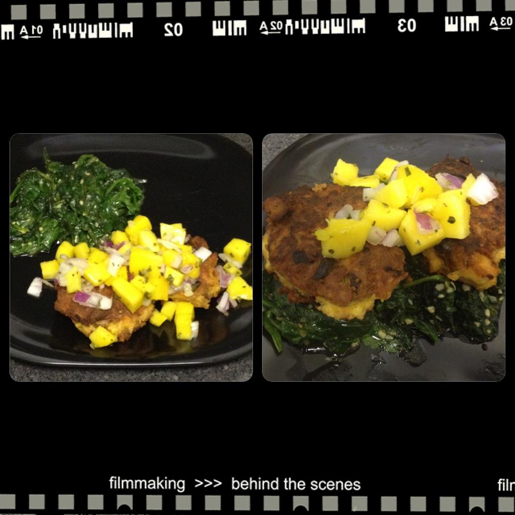 Salmon Croquettes w/ Mango Salsa